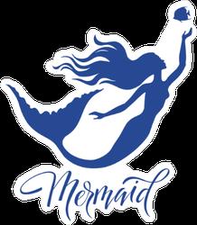 Mermaid and Fish Silhouette Sticker