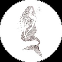 Mermaid Drawing Sticker
