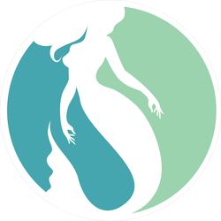 Mermaid Logo Design Sticker