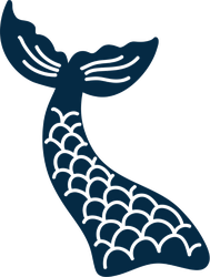 Mermaid Tail with Scales Sticker