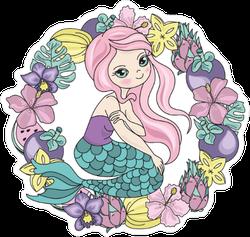 Mermaid Wreath Sticker
