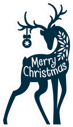 Merry Christmas Deer Sticker