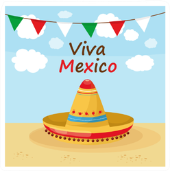 Mexican Hat Viva Mexico Sticker