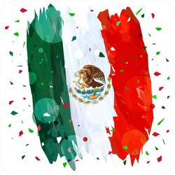 Mexican Independence Day Flag Confetti Sticker