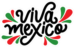 Mexican Independence Day Logo Sticker