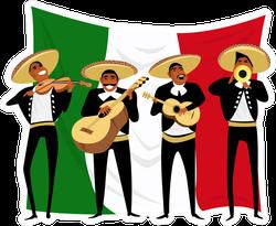 Mexican Mariachi Musicians Sticker