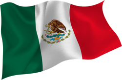Mexico Flag Flying Sticker