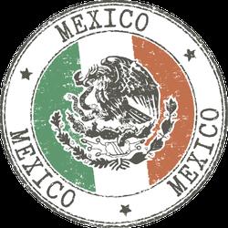 Mexico Grunge Stamp Sticker