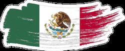 Mexico National Flag Grunge Brush Stroke Sticker