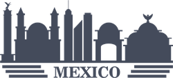 Mexico Travel Landmarks Silhouette Sticker