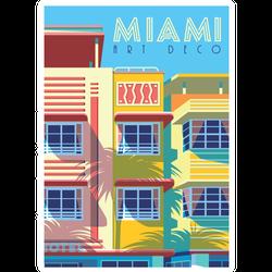 Miami Art Deco Florida Illustration Sticker