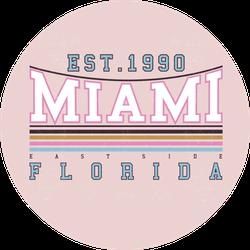 Miami Florida Beach Summer Pink Sticker