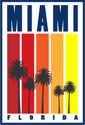 Miami Florida Sticker