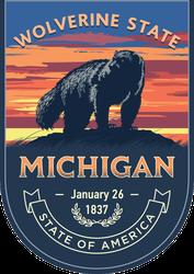 Michigan Banner Sticker