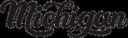 Michigan Calligraphy Sticker