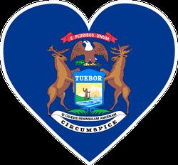 Michigan Heart Sticker