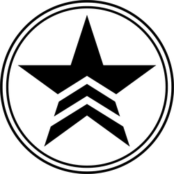 Military Star In A Circle Sticker
