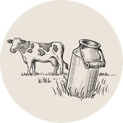 Milk Cans With Grass Country Style Sticker