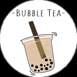 Milk Tea Drink Doodle Sticker