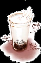 Milk Tea Fruity Tea Sticker
