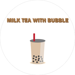 Milk Tea With Bubble Sticker