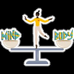 Mind Body Balance Illustration Sticker