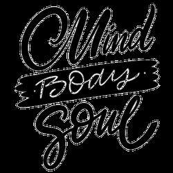 Mind Body Soul Motivational Lettering Sticker