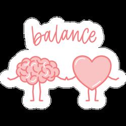 Mind Heart Balance Sticker