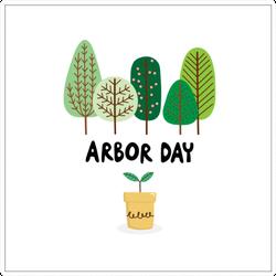 Mini Forest Arbor Day Sticker