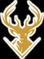 Minimalist Deer Logo Sticker