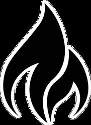 Minimalist Flame Sticker