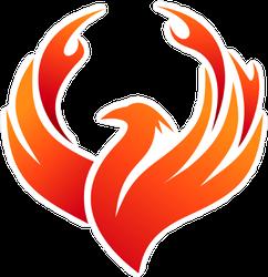 Minimalist Phoenix Sticker