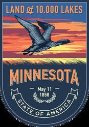 Minnesota Banner Sticker