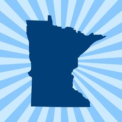 Minnesota Burst Sticker