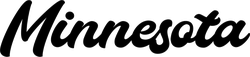 Minnesota Calligraphy Sticker