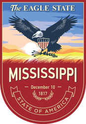 Mississippi Banner Sticker
