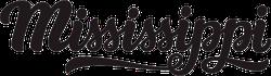 Mississippi Calligraphy Sticker