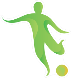 Modern Abstract Soccer Player Sticker
