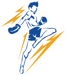 Modern Aggressive Mixed Martial Arts Boxing Sticker