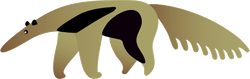 Modern Anteater Sticker