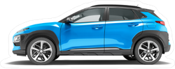 Modern Blue Car Crossover Sticker