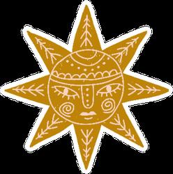 Modern Bohemian Style Sun Sticker