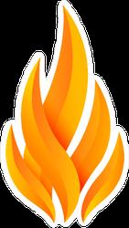 Modern Fire Logo Sticker