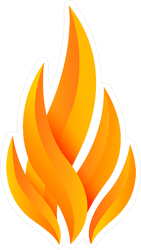 Modern Flame Fire Logo Sticker
