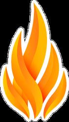 Modern Flame Fire Logo Sticker