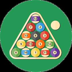 Modern Illustration Billiards Ball Sticker