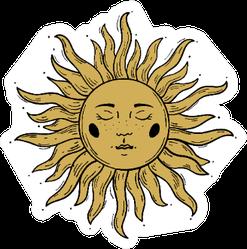 Modern Sun Sketch Sticker