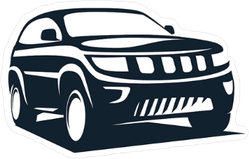 Modern SUV Icon Sticker