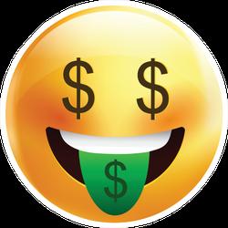 Money Face Sticker