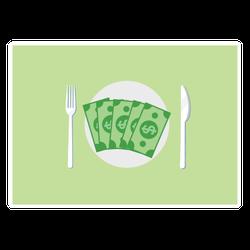 Money for Dinner Sticker